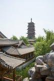 Azja chińczyk, Pekin, Yu ogród, Klasyczna ogrodowa architektura, Zdjęcie Royalty Free