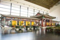 Azja chińczyk, Pekin, Chiny Ogrodowy muzeum, salowa powystawowa sala Zdjęcia Stock