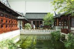Azja chińczyk, Pekin, Chiny Ogrodowy muzeum, salowy podwórze, Suzhou Jiangnan Zdjęcie Royalty Free