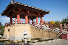 Azja chińczyk, Pekin, Ogrodowy expo, antykwarski budynek, pawilon, Fotografia Royalty Free