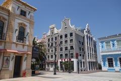 Azja Chiny, Macao, rybaka nabrzeże, Europejska architektura obraz royalty free