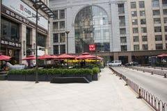 Azja Chiny, Pekin, światowy miasto reklamy okręg Zdjęcie Stock