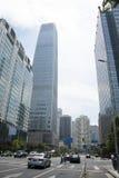 Azja, Chiny, Pekin, CBD Środkowy biznes, Porcelanowa world trade center wierza 3ï ¼ Œmodern architektura Obrazy Stock