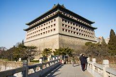 Azja Chiny, Pekin dynastia Ming ściany ruin park, wieżyczki Obraz Royalty Free