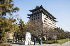 Azja Chiny, Pekin dynastia Ming ściany ruin park, wieżyczki Fotografia Royalty Free