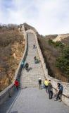 Azja Chiny, Pekin, historyczni budynki, badaling wielkiego mur Obraz Stock