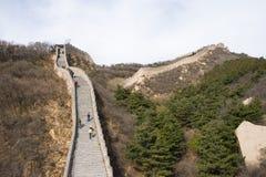 Azja Chiny, Pekin, historyczni budynki, badaling wielkiego mur Zdjęcie Royalty Free