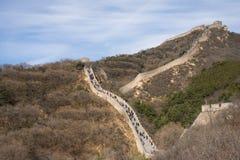 Azja Chiny, Pekin, historyczni budynki, badaling wielkiego mur Zdjęcia Stock