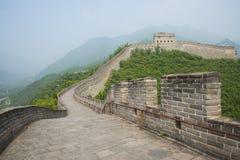 Azja Chiny, Pekin, historyczni budynki wielki mur Juyongguan, zegarka wierza, bakanu wierza Fotografia Stock