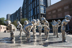 Azja Chiny, Pekin, 22 Juan sztuki uliczny okręg, projektuje nowatorską kulturalną ulicę Zdjęcie Stock