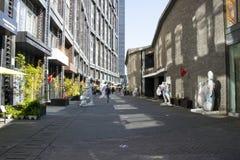 Azja Chiny, Pekin, 22 Juan sztuki uliczny okręg, projektuje nowatorską kulturalną ulicę Zdjęcia Royalty Free