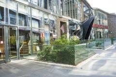 Azja Chiny, Pekin, 22 Juan sztuki uliczny okręg, projektuje nowatorską kulturalną ulicę Obrazy Royalty Free