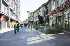 Azja Chiny, Pekin, 22 Juan sztuki uliczny okręg, projektuje nowatorską kulturalną ulicę Zdjęcia Stock