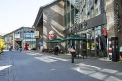 Azja Chiny, Pekin, 22 Juan sztuki uliczny okręg, projektuje nowatorską kulturalną ulicę Zdjęcie Royalty Free
