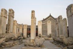 Azja Chiny, Pekin, kamiennego cyzelowanie sztuki museumï ¼ ŒOutdoor areaï ¼ Œstone powystawowa pastylka Fotografia Stock