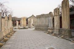 Azja Chiny, Pekin, kamiennego cyzelowanie sztuki museumï ¼ ŒOutdoor areaï ¼ Œstone powystawowa pastylka Zdjęcia Stock