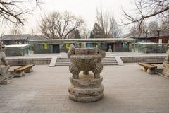 Azja Chiny, Pekin, kamiennego cyzelowanie sztuki museumï ¼ ŒOutdoor powystawowy teren Zdjęcia Royalty Free