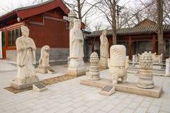 Azja Chiny, Pekin, kamiennego cyzelowanie sztuki museumï ¼ ŒOutdoor powystawowy teren Fotografia Stock