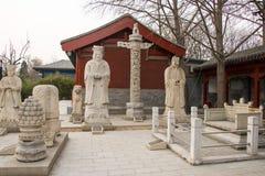 Azja Chiny, Pekin, kamiennego cyzelowanie sztuki museumï ¼ ŒOutdoor powystawowy teren Zdjęcia Stock