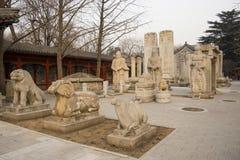 Azja Chiny, Pekin, kamiennego cyzelowanie sztuki museumï ¼ ŒOutdoor powystawowy teren Zdjęcie Stock