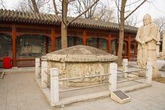 Azja Chiny, Pekin, kamiennego cyzelowanie sztuki museumï ¼ ŒOutdoor powystawowy teren obrazy royalty free