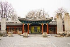 Azja Chiny, Pekin, kamiennego cyzelowanie sztuki museumï ¼ ŒOutdoor powystawowy teren obraz royalty free