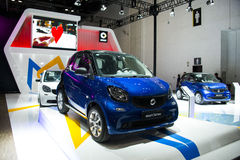 Azja Chiny, Pekin, Krajowy convention center, importowy Auto expo Obraz Stock