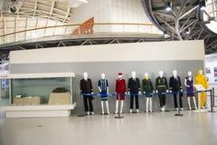 Azja Chiny, Pekin, lotnictwa cywilnego muzeum, Salowy powystawowy hallï ¼ Œwork odziewa Obrazy Stock