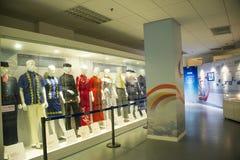 Azja Chiny, Pekin, lotnictwa cywilnego muzeum, Salowy powystawowy hallï ¼ Œwork odziewa Obrazy Royalty Free