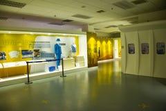 Azja Chiny, Pekin, lotnictwa cywilnego muzeum, Salowy powystawowy hallï ¼ Œwork odziewa Zdjęcia Royalty Free