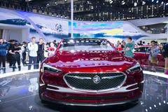Azja Chiny, Pekin, 2016 międzynarodowych samochodów wystaw, Salowa powystawowa sala, Buick Avista pojęcia samochód Obraz Stock