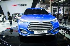 Azja Chiny, Pekin, 2016 międzynarodowych samochodów wystaw, Salowa powystawowa sala, Jianghuai, SC5 pojęcia samochód Obrazy Stock