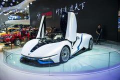 Azja Chiny, Pekin, 2016 międzynarodowych samochodów wystaw, salowa powystawowa sala, Pekin automobilowy przemysł, nowy energetycz Obraz Stock