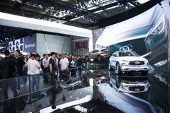 Azja Chiny, Pekin, 2016 międzynarodowych samochodów wystaw, Salowa powystawowa sala, pojęcie samochód, Infiniti Zdjęcie Stock
