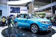 Azja Chiny, Pekin, 2016 międzynarodowych samochodów wystaw, salowa powystawowa sala, Changan SUZUKI Vitara Zdjęcia Royalty Free