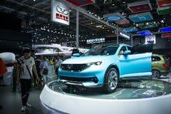Azja Chiny, Pekin, 2016 międzynarodowych samochodów wystaw, salowa powystawowa sala, COWIN samochód Obrazy Royalty Free