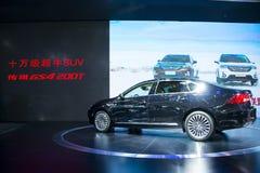 Azja Chiny, Pekin, 2016 międzynarodowych samochodów wystaw, Salowa powystawowa sala zaawansowany biznesowy samochód, trumpchi sam Zdjęcia Stock