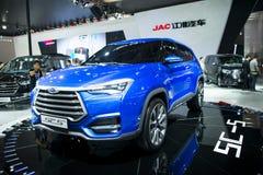 Azja Chiny, Pekin, 2016 międzynarodowych samochodów wystaw, Salowa powystawowa sala, Jianghuai, SC5 pojęcia samochód Zdjęcia Royalty Free