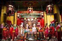 Azja Chiny, Pekin Minghuang figury woskowej Palaceï ¼ ŒHistorical i kulturalny krajobraz Ming dynastia w Chiny, Obraz Royalty Free