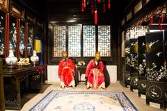 Azja Chiny, Pekin Minghuang figury woskowej Palaceï ¼ ŒHistorical i kulturalny krajobraz Ming dynastia w Chiny, Zdjęcia Stock