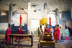 Azja Chiny, Pekin Minghuang figury woskowej Palaceï ¼ ŒHistorical i kulturalny krajobraz Ming dynastia w Chiny, Fotografia Royalty Free