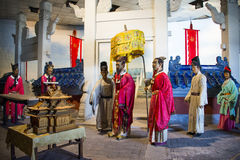 Azja Chiny, Pekin Minghuang figury woskowej Palaceï ¼ ŒHistorical i kulturalny krajobraz Ming dynastia w Chiny, Zdjęcia Royalty Free