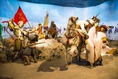 Azja Chiny, Pekin Minghuang figury woskowej Palaceï ¼ ŒHistorical i kulturalny krajobraz Ming dynastia w Chiny, Fotografia Stock