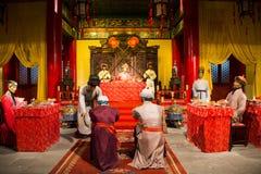 Azja Chiny, Pekin Minghuang figury woskowej Palaceï ¼ ŒHistorical i kulturalny krajobraz Ming dynastia w Chiny, Obraz Stock