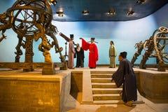 Azja Chiny, Pekin Minghuang figury woskowej Palaceï ¼ ŒHistorical i kulturalny krajobraz Ming dynastia w Chiny, Obrazy Stock