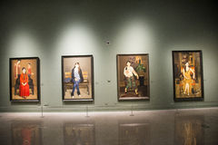 Azja Chiny, Pekin, muzeum narodowe, Salowa powystawowa sala obrazy royalty free