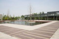 Azja Chiny, Pekin, ogrodowy expo, Ogrodowy architectureï ¼ Œ Zdjęcia Stock