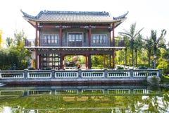 Azja Chiny, Pekin, Ogrodowy expo, Ogrodowy budynek, pawilon Obrazy Stock