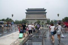 Azja Chiny, Pekin, Qianmen, Zhengyang bramy wieża obserwacyjna fotografia royalty free
