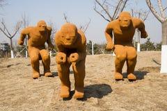 Azja Chiny, Pekin, rolniczy karnawał, Plenerowy krajobrazowy ï ¼ ŒSculpture, narta Zdjęcia Royalty Free